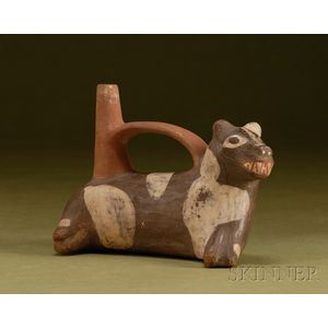 Pre-Columbian Polychrome Pottery Dog