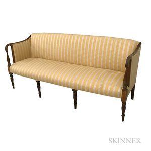 Federal Upholstered and Inlaid Mahogany Sofa
