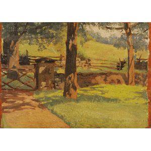 Theodore Robinson (American, 1852-1896)      The Shaded Gate