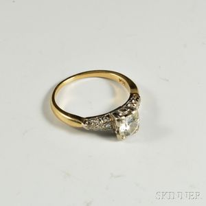 14kt Bicolor Gold and Diamond Ring