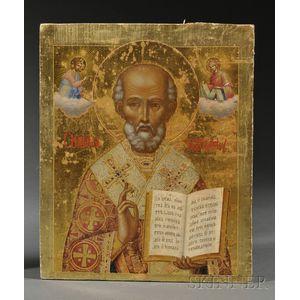 Russian Icon of Saint Nicolas