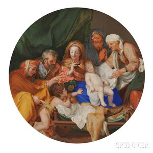 Attributed to François Chauveau (1613-1676)      John the Baptist Visiting the Infant Christ