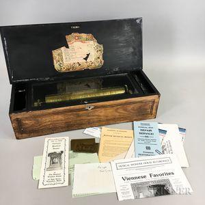 Inlaid Mahogany Veneered Twelve-air Cylinder Musical Box