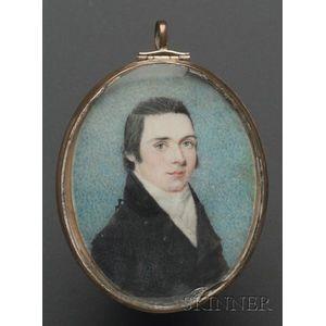 Portrait Miniature of a Young Man