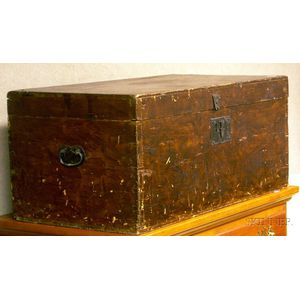 Grain Painted Pine Dovetail-constructed Storage Box