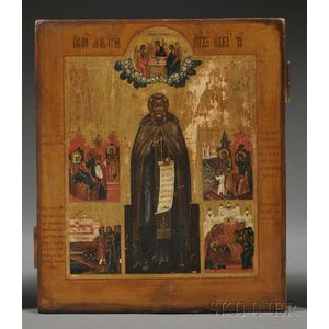 Russian Icon Depicting Saint Sergius