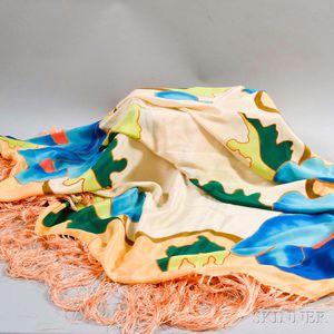 Multicolored Silk Table Covering