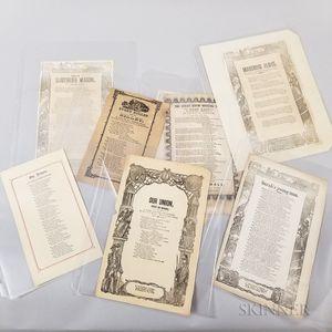 Eight Civil War Song Sheets