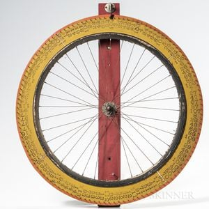 Yellow-painted Wheel of Fortune