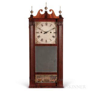 Ives Reeded Pillar & Scroll Shelf Clock