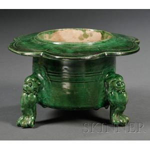 Green Glazed Brazier