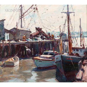 Emile Albert Gruppé (American, 1896-1978)      Harbor View