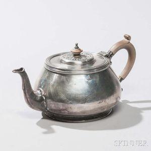 Elizabeth II Sterling Silver Teapot