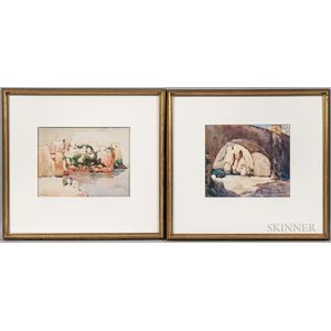 Frank Drummond Allison (Canadian, 1883-1951)      Two Framed Watercolors: Morocco