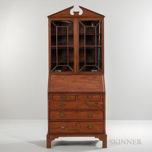 Georgian-style Mahogany Secretary Bookcase