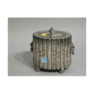English Silver-plated Biscuit Barrel.