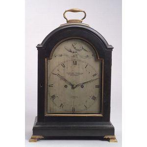 Victorian George III-style Ebonized Mantel Clock