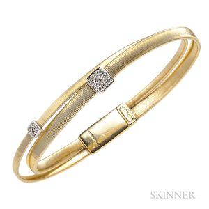 18kt Gold and Diamond Bracelet, Marco Bicego