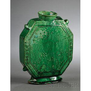 Green Glazed Pilgrim