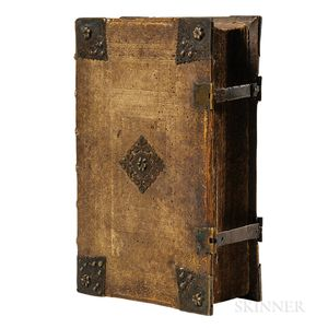 Bible, German. Catholische Bibell  , Illustrated with Hand-colored Woodcuts.