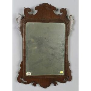 English Queen Anne Walnut Mirror