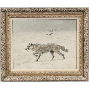 Theodore Victor Carl Valenkamph (Swedish/American, 1868-1924)      Wolf in Snow