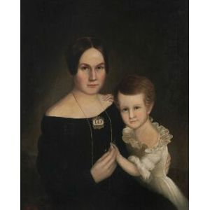 American School, 19th Century  A Pair of Portraits of The Kidder Family.