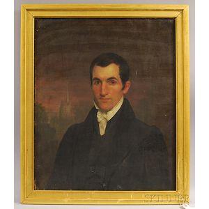American School, 19th Century       Portrait of Anson Rood.