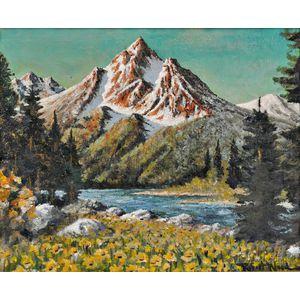 Robert William Wood (American, 1889-1979)      Teton Afternoon