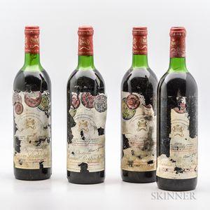 Chateau Mouton Rothschild 1978, 4 bottles