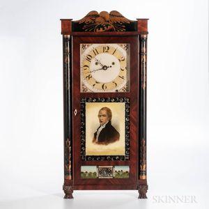 "Silas Hoadley ""Time is Money"" Stenciled Shelf Clock"