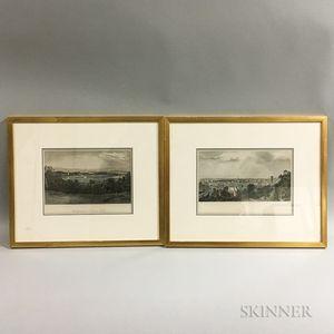 Two Framed D. Appleton & Co. Hand-colored Engravings