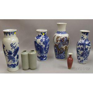 Six Chinese Porcelain Vases