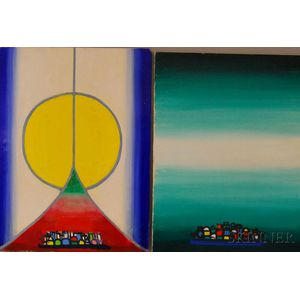 Henry Kallem (American, 1912-1985)      Two Paintings: Chromatic Vision