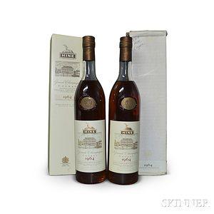 Hine 1964, 2 750ml bottles (one in oc)