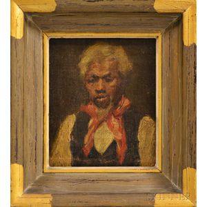 American School, 19th Century      Portrait Bust of an African American Man