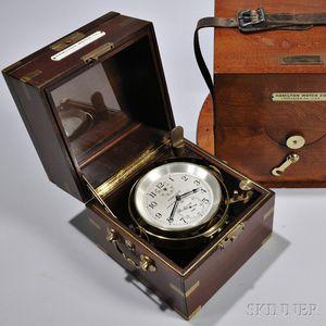S.S. Catawaba Victory   Hamilton No. 21 Marine Chronometer