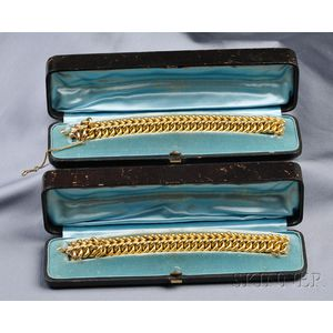 Pair of Antique 18kt Gold Bracelets, Tiffany & Co.
