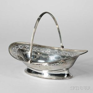 George III Sterling Silver Cake Basket