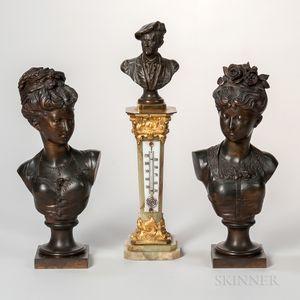 Three Continental Bronze Items