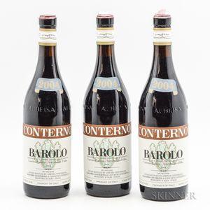 Giacomo Conterno Barolo Cascina Francia 2004, 3 bottles