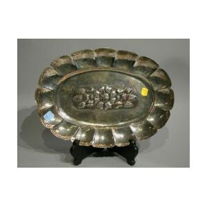 Mexican Sterling Silver Lobed Tray.