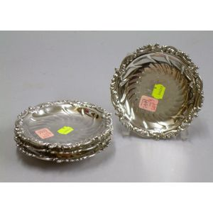 Set of Four English Sterling Silver Footed Candy Dishes
