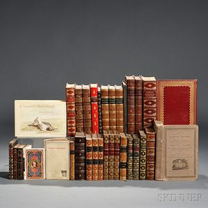Decorative Bindings, Sets, Thirty-five Volumes Fine Bindings, English Literature, and Others.