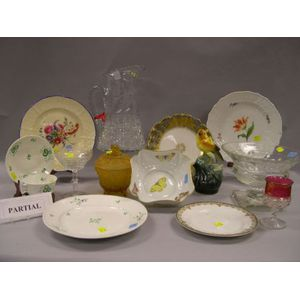Large Group of Decorated Ceramic and Glass Tableware