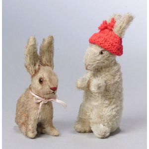 Two Steiff Mohair Rabbits