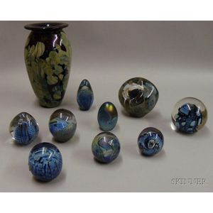 Ten Pieces of  Eihart Glass