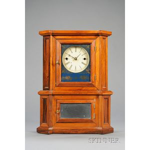 "Rosewood ""Parlor No. 1"" 30-Day Lever Spring Shelf Clock by Atkins, Whiting & Company"