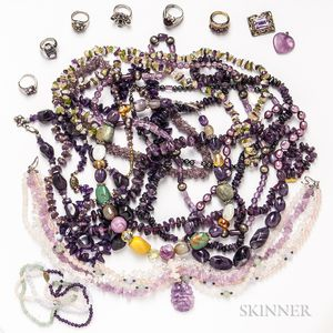Group of Amethyst Bead Jewelry