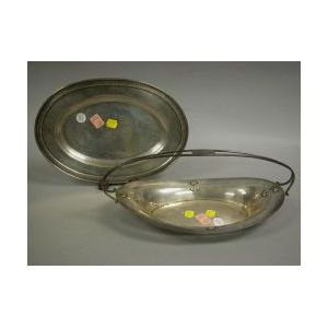 Two Sterling Silver Bread Trays.